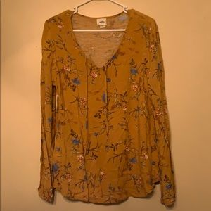 Buckle floral shirt GREAT FOR FALL